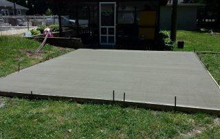 Concrete Construction Pad