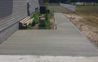Concrete Construction Walkway