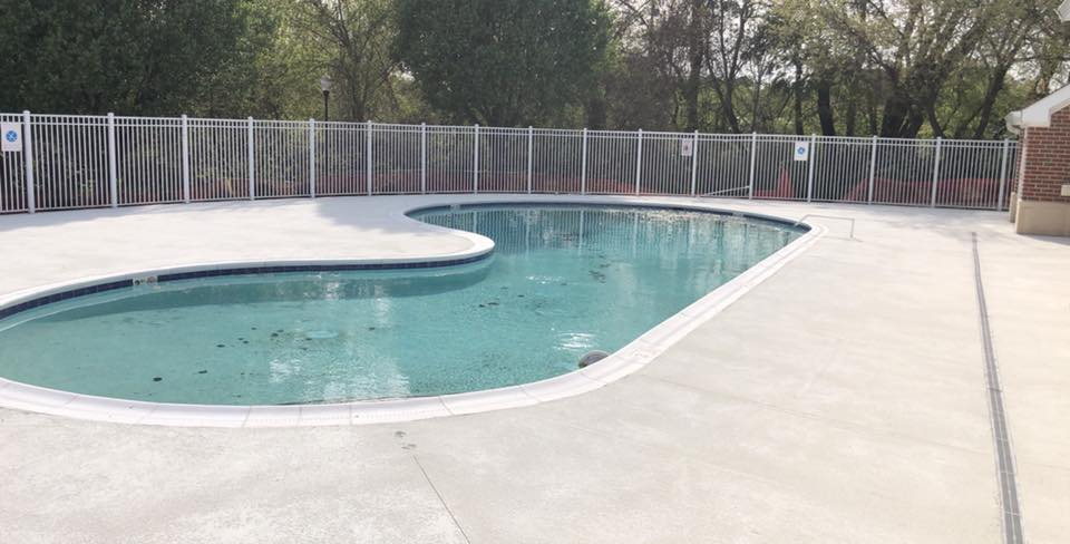 Pool Concrete Deck and Pool Coping