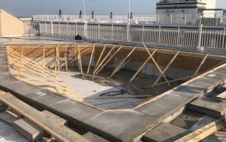 New Pool construction concrete