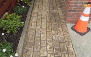 Stamped Concrete Brick Sidewalk