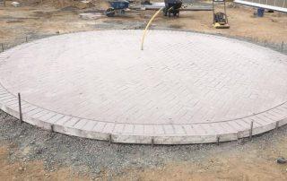 Stamped Concrete Circular Pad