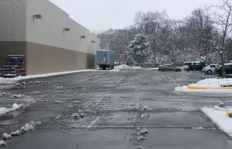 Cleared Parking Lot
