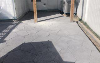 Stamped Concrete Doorway