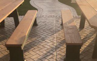 Stamped Concrete Picnic Area